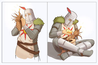 Solaire in love ( with Sunlight Maggot ) by GooseupII