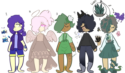 Cool kids 5/5 OPEN BID ADOPTS by Unmarked-Boy