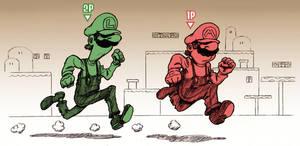 Mario Bros. by Escopeto