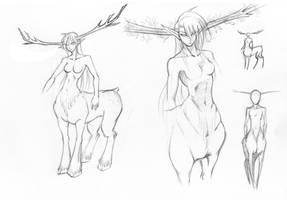 centaur_draft0 by Arilynazure