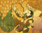 Loki and Frigga by Pulvis