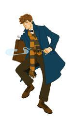 Newt Scamander by Pulvis