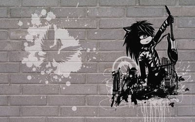 Graffiti wall... Rock on Kyle by Roxo89
