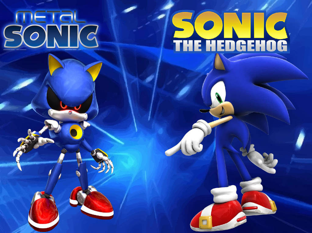 Sonic And Metal Sonic Wallpaper By Knuxy7789 On Deviantart