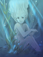 Child in the water by kyomitsu