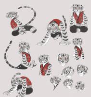 Tigress sketch3 by kyomitsu
