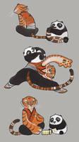 KFP Tigress and baby Po by kyomitsu