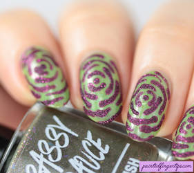 Nail-art-textured-roses by Painted-Fingertips