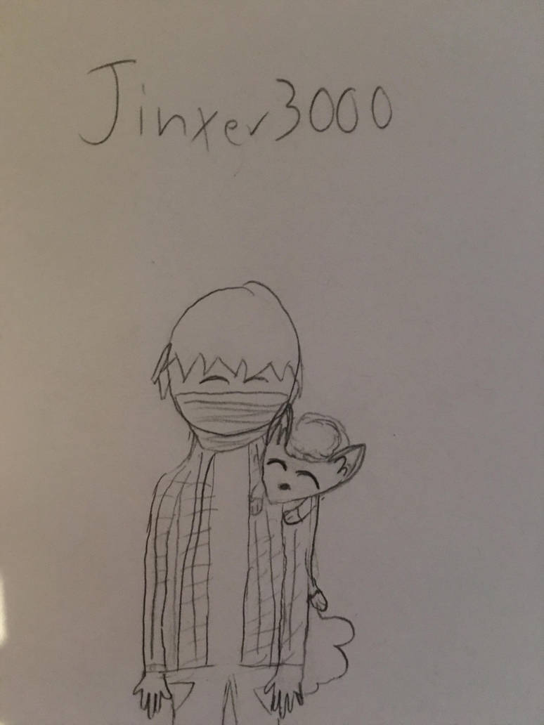 Vin Ranchero(Jinxer3000) With Snowy the Vulpix by Jinxer3000