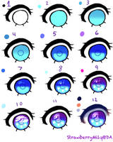 Anime Eye tutorial by StrawberryMilq
