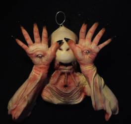 The Pale Man ooak handsculpted creepy pendant by Isabellaooak