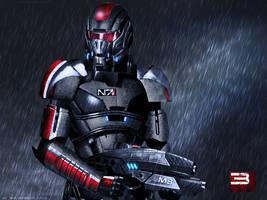 Mass Effect 3 Shepard Rain Edition Vol 2 by RedLineR91