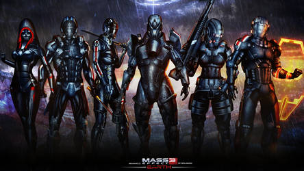 Mass Effect 3 DLC Earth Wallpaper (2013) by RedLineR91