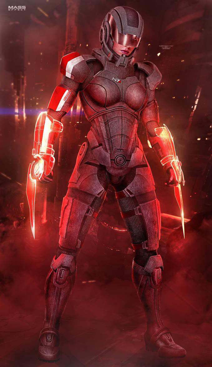 FemShep Sentinel II - Mass Effect (2016) by RedLineR91