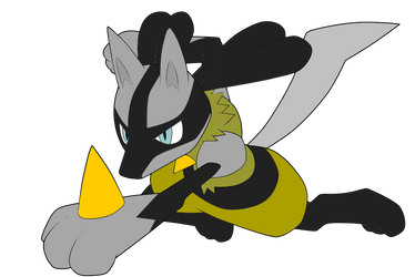 Lucario Form by WolfxOfxSilver