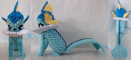 3D Origami - Vaporeon by Jobe3DO