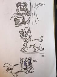 Baby animal cuteness!!! by Wolftales158Art