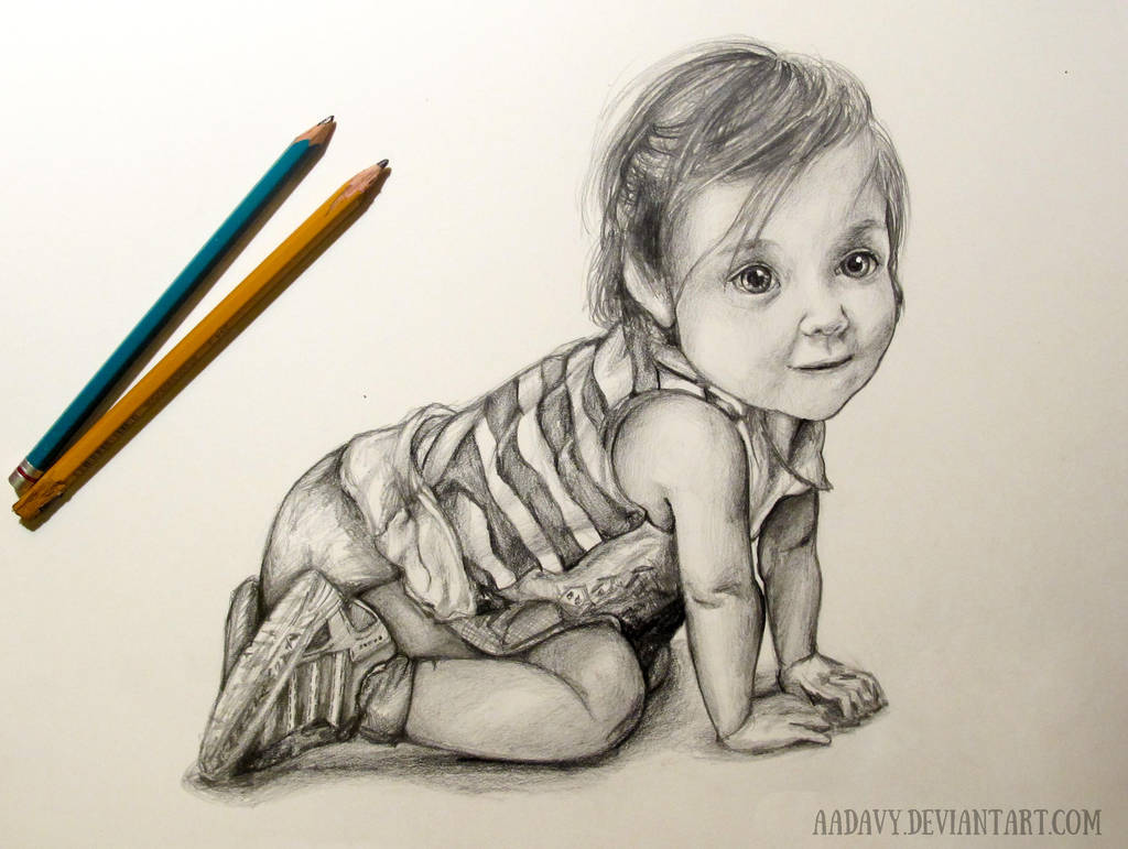 Baby Sketch by Aadavy