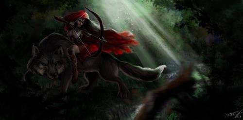 Little Red Fighting Hood by Aadavy