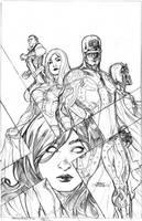 Uncanny X-Men 526 Cover Pencil by TerryDodson