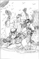 Uncanny X-Men 520 Cover Pencil by TerryDodson