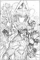 Uncanny X-Men 505 Cover Pencil by TerryDodson