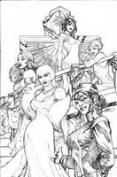 Uncanny X-Men 504 Cover Pencil by TerryDodson