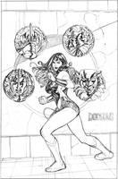 Wonder Woman 16 Cover Pencil by TerryDodson