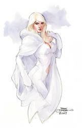 Emma Frost Watercolor Final by TerryDodson