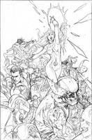 Uncanny X-Men 514 Cover Pencil by TerryDodson