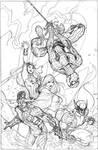X-Men 7 Cover Pencils by TerryDodson