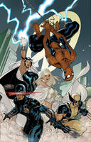 X-Men 7 Cover Colors WIP by TerryDodson