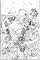 X-Men 9 Cover Pencils by TerryDodson