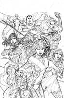 Uncanny X-Men 538 Cover Pencil by TerryDodson