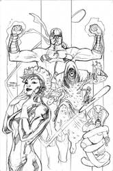 Defenders 6 Cover Pencils by TerryDodson