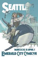 Seattle Print by TerryDodson