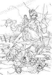 Songes Tome 2 Celia Cover Lineart by TerryDodson