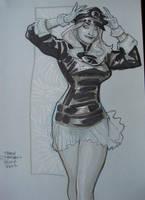 Lady BLACKHAWK ECCC 2013 by TerryDodson