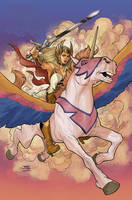He-Man and the MofU #1 She-Ra Variant Cover Final by TerryDodson