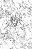 Catwoman 25 Pencils by TerryDodson