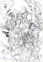 XMEN 10 Cover Pencils by TerryDodson