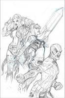 Uncanny X-Men 21 Variant Cover Pencil by TerryDodson