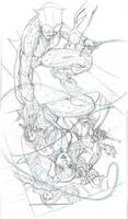 CATWOMAN 31 Cover Pencils by TerryDodson