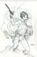 Princess Leia #1 Cover Pencils by TerryDodson