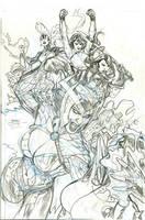 X-Men 22 Cover Pencils by TerryDodson