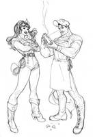 Wonder Woman Superman Bombshells Cover Pencil by TerryDodson