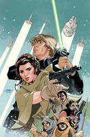 Star Wars: Shattered Empire 1 Variant Cover by TerryDodson