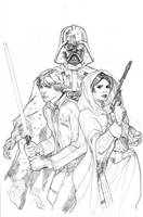 Star Wars: Vader Down #1 Variant Cover Pencil by TerryDodson