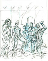 Civil War II #1 Cover Pencils by TerryDodson