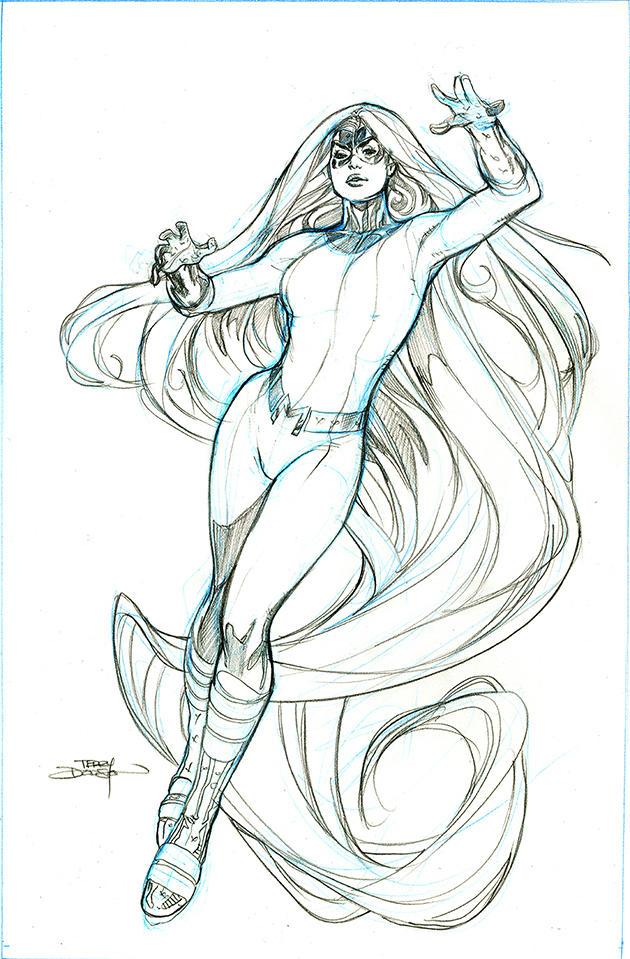 Inhumans Vs X-Men #5 MedusaPencils by TerryDodson